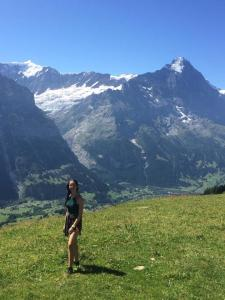 Feeling very small in the Swiss Alps
